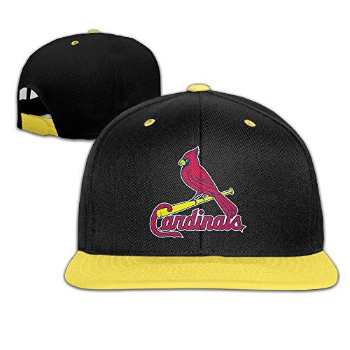 Amone St Louis Cardinal Kids Hiphop Baseball Hat Snapback Hat Yellow ()