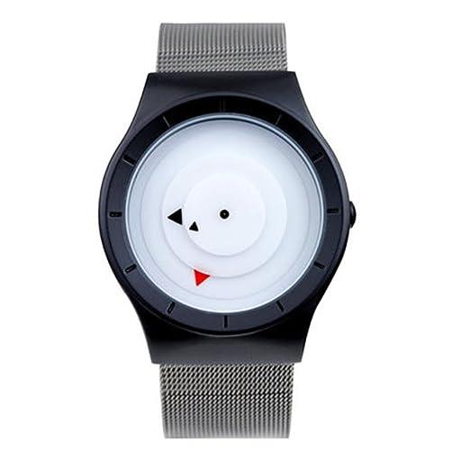 Reloj/todos los relojes negros/mate de la textura/del acero/de los hombres creativos/regalo del día de tarjeta del día de San Valentín, 2: Amazon.es: ...