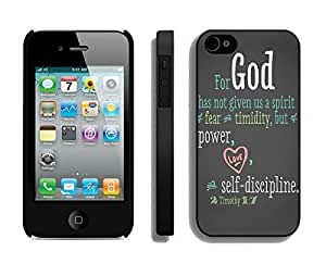 Bible Quote Iphone 4 4s Case Black Cover Apple Iphone Accessories