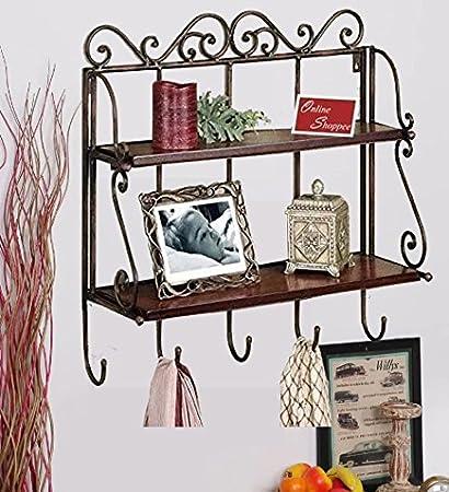 Onlineshoppee Percha Shelf with Hanger (Brown)