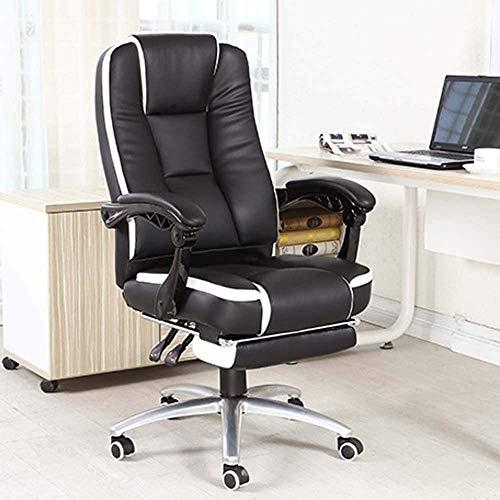 Rindasr Adulto Silla Silla de oficina Juegos, Hogar Juvenil Silla for juegos de ordenador, silla de escritorio, silla ergonomica con almohadillas de las patas, respaldo y asiento altura puede silla de