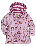 Hatley Little Girls' Raincoat Soft Deers, Light Pink Deer, 4