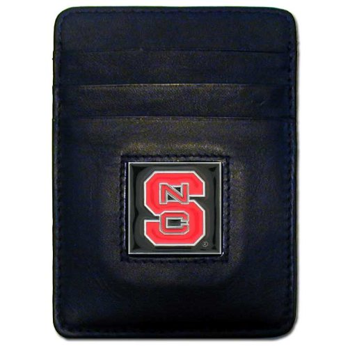 NCAA North Carolina State Wolfpack Leather Money Clip/Cardholder Wallet
