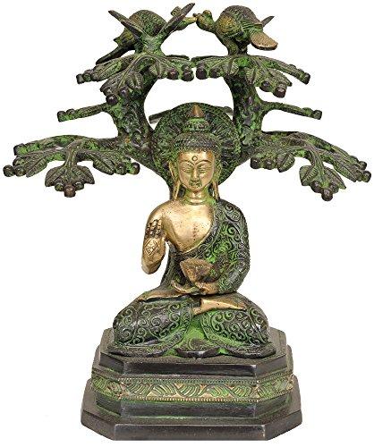 buddha-under-the-bodhi-tree-brass-statue