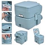 GHP 5 Gallon / 20L Greenish Gray Portable Flush Travel Outdoor Camping Hiking Toilet