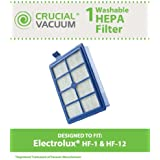 Crucial Vacuum 1 1 Electrolux Washable and Reusable Hepa Filter, Fits Electrolux Eureka Sanitaire HF12, HF1 and EL012W Upright/Canister Filter