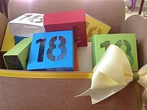 Bomboniere Juego 25 piezas cajas 18 años 18º cumpleaños ...