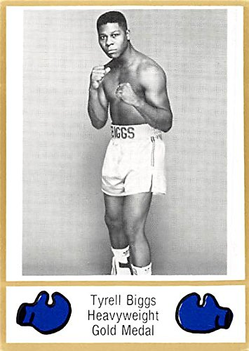 Tyrell Biggs trading card (Heavyweight Champion Boxer) 1986 Browns Boxing - Champion Heavyweight Boxer