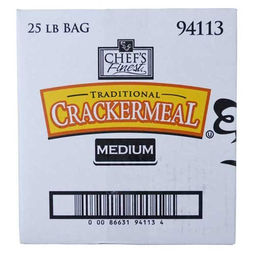 Chefs Finest Medium Grind Cracker Meal, 25 Pound - 1 each.