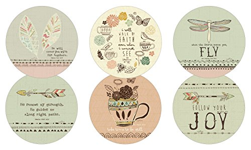 - Legacy Reversible Pulpboard Coasters, Boxed Set of 6, Heavenly Direction