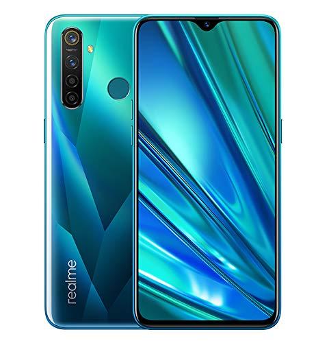 Realme 5 Pro Smartphone 4GB RAM + 128GB ROM, Pantalla de 6.3'' IPS, procesador Octa-Core, 16MP Frontal y 48MP Cuádruple Cámara, Dual Sim, Crystal Green (Verde)