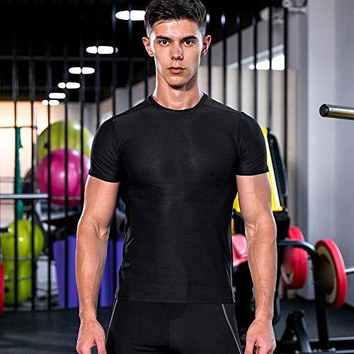 Homme Entraînement Yoga Chemise Morchan Fitness Noir Athlétique Leggings Course Blouse UqwfCvx