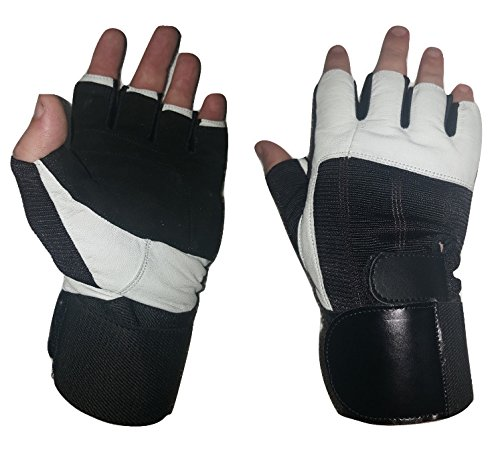 Leather Weight Lifting Gloves with Integrated Wrist Wraps. Increase Your Lifts While Protecting your hands