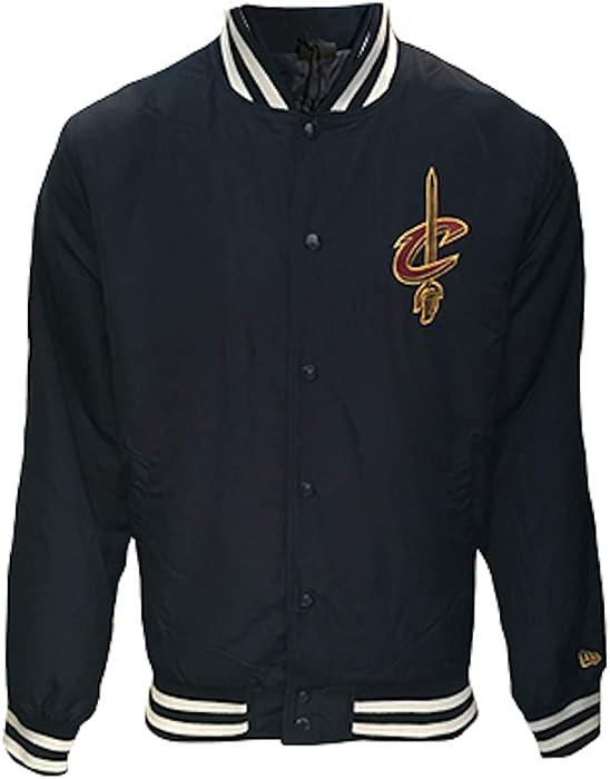 3c1d3a998b2 New Era NBA Team Apparel Bomber Jacket (Medium, Blue - Cleveland ...