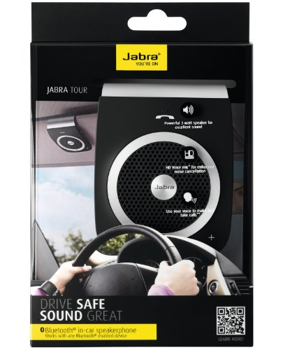 Jabra Tour Bluetooth In Car Speakerphone Retail Packaging Black