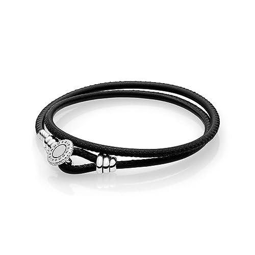 eeeb1f131728 Pandora Pulsera cuerda Mujer plata - 597194CBK-D1  Amazon.es  Joyería