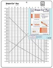 June Tailor 12-Inch by 18-Inch Shape Cut Plus Ruler