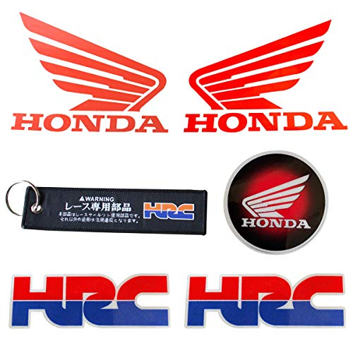 LLAP Sticker for Honda HRC Keychain for CBR Honda Wings Decals Set (6packs) ()