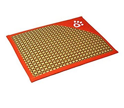 Sun Glower Coperta delle forniture dell'animale Stuoia di raffreddonnato di estate del tappetino antiscivolo di disegno a strisce sottile confortevole (70  52  2cm, arancione)