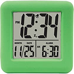 EQUITY 70903 Soft Cube Lcd Alarm Clock (green)