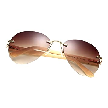 IPOTCH Gafas de Sol de Bambú para Adultos Montura ...