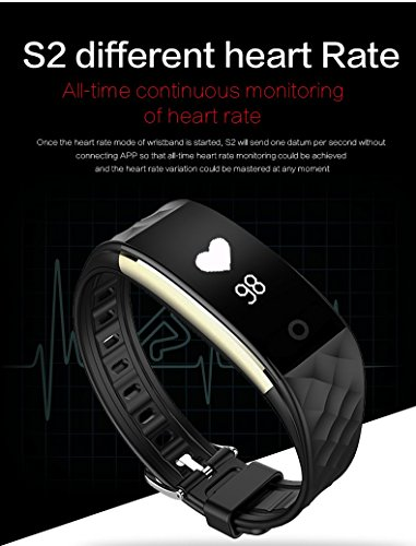 Intelligent Fitness Watch with Textured Wristband Touch Screen Bluetooth Sport HR Wireless Health Waterproof Heart Rate Bracelet Digital Smater Watch Various Colors (Black)