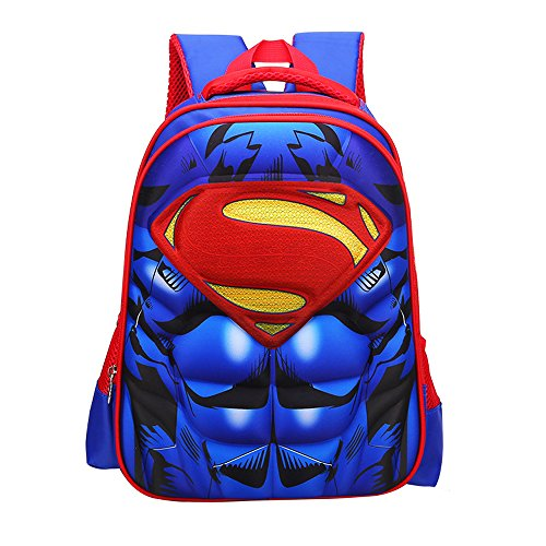 School Backpack for Boys Kids Schoolbag Student Bookbag Rucksack Waterproof Shoulder Bag Daypack with Anime Super Hero (A01, Large:16.5x12.6x5.5 in) ()