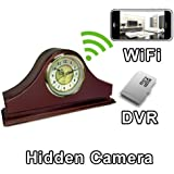 PalmVID WiFi Mantel Clock Hidden Camera Spy Camera with Live Video Viewing
