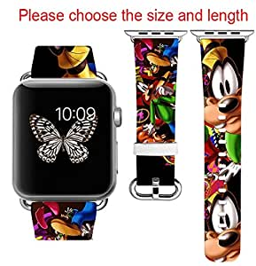Amazon.com: Goofy Disney Apple Watch Band 42MM 44mm ...