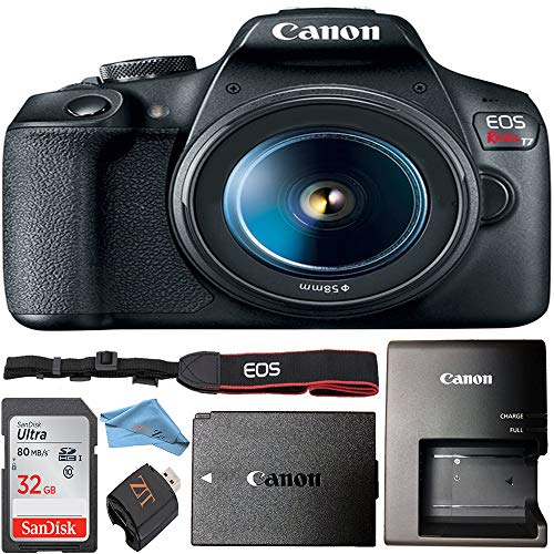 Canon EOS Rebel T7 24.1MP Digital SLR Camera Retail Packaging Bundle (Canon 18-55mm Lens)
