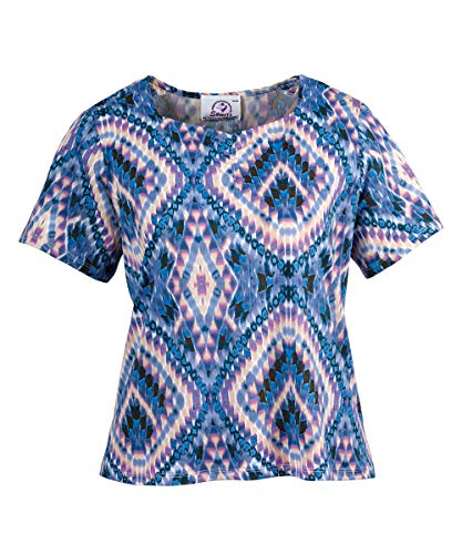 Womens Adaptive Snap Back Top Elderly Clothing and Disabled - Denim/Blush XL