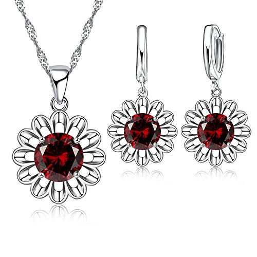 Romantic Zircon Sun Flower Jew...