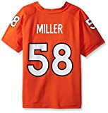 NFL Boys 4-7 Von Miller Denver Broncos Player Name & Number V-Neck Tee, Large/(7), Orange
