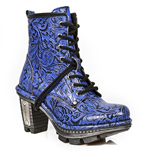 M S10 Blau Handmade Stiefelette NEOTR008 Rock New Damen Fvwgn