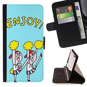 Dragon Case - FOR Samsung Galaxy Core Prime - enjoy every day - Caja de la carpeta del caso en folio de cuero del tir¨®n de la cubierta protectora Shell