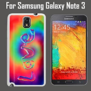 Beautiful Tie Dye Love Custom Case/ Cover/Skin *NEW* Case for Samsung Galaxy Note 3 - White - Rubber Case (Ships from CA) Custom Protective Case , Design Case-ATT Verizon T-mobile Sprint ,Friendly Packaging - Slim Case