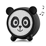Mini Bluetooth Speaker Aurtec Cute Animal Portable Wireless Outdoor Stereo Audio with Superior Sound and Richer Bass,Remote Selfie Function,Bluetooth 4.2,Handsfree Calling-Panda