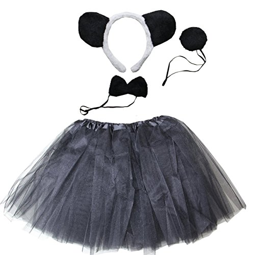 Kirei Sui Kids Costume Tutu Set Black Panda -