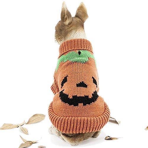 HAPEE Pet Clothes the Halloween pumpkin Cat Dog Sweater , Dog Accessories, Dog Apparel?Pet Sweatshirt