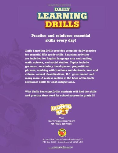 Daily Learning Drills, Grade 5 (Brighter Child: Daily Learning Drills) by Brighter Child