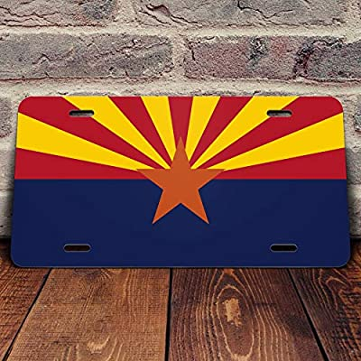 Arizona State Flag Vanity Front License Plate Tag Printed Full Color KCFP002: Automotive