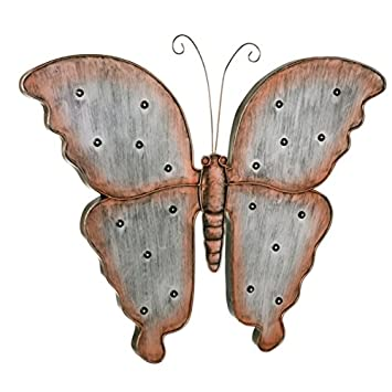 Amazon.com : Grasslands Road LED Butterfly Metal Wall Décor (2 ...