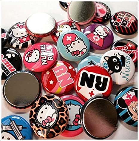 5 Fabric Buttons 23 mm Buttons,Children/'s Buttons,Buttons,Fabric Buttons,Fabric Buttons,Buttons,Buttons,Sewing Button,Craft Button,Cupcake