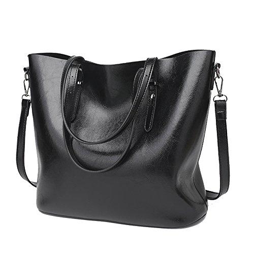 Cross Black Handbag Casual bag QZUnique Women's Bucket Body Leather Tote Large Bag PU Shoulder xw6wfTqB