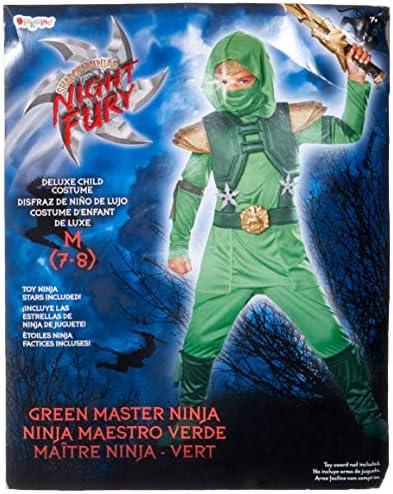 Amazon.com: Disfraz Shadow Ninja Green Master Traje Ninja ...