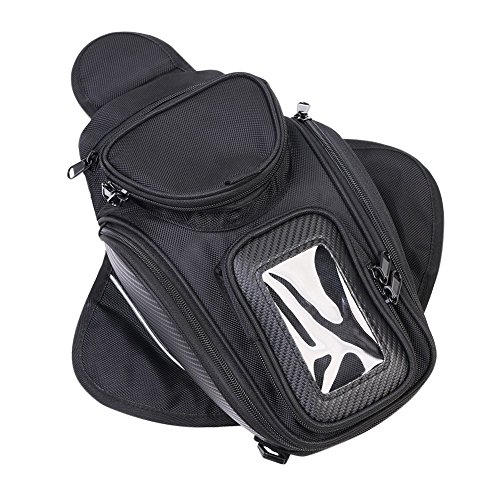 Oil Fuel Tank Bag,Upower Universal Motorcycle Oil Fuel Tank Bag Magnetic Motorbike Riding Waterproof Bag Black by Upower
