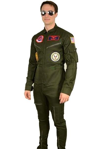 32e934b57b Top Gun Maverick   Goose Costume + Sunglasses Party Men Flight Suit Jumpsuit