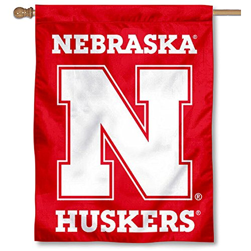 College Flags and Banners Co. Nebraska Huskers Wordmark Double Sided House ()
