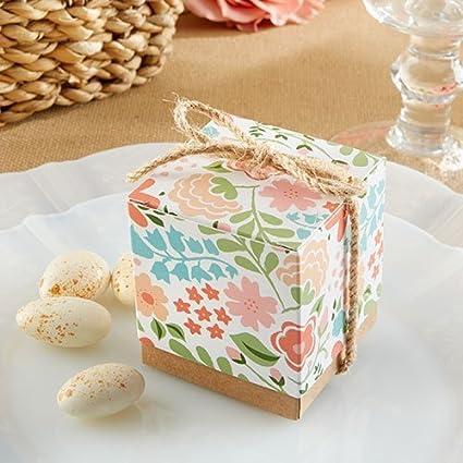 Sruix 5x5x5cm Encantador Flor Papel Caramelo Caja Boda Cumpleaños Nupcial Ducha Galletas Golosinas Caja Fiesta Favor