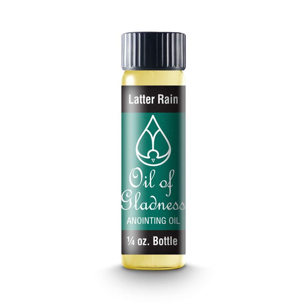 Oil of Gladness Latter Rain Anointing Oil - Oil for Daily Prayer, Ceremonies and Blessings 1/4 oz
